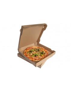 Boîte à pizza 100% Naturelle en carton recyclable. Conserve vos pizzas au chaud pendant le transport.