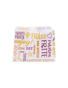 Sachet à frites en papier ingraissable petit modèle.