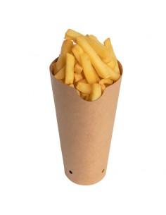 Pot à frites permettant la fermeture.