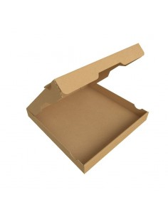 Boîte à pizza 100% Naturelle en carton recyclable. Ecobox. Kraft brun.