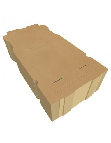 """Boîte à pizza enfant """"La Pizza des Loulous"""". Diamètre 20 cm, hauteur 4 cm pour menu enfant. Colis de 100."""