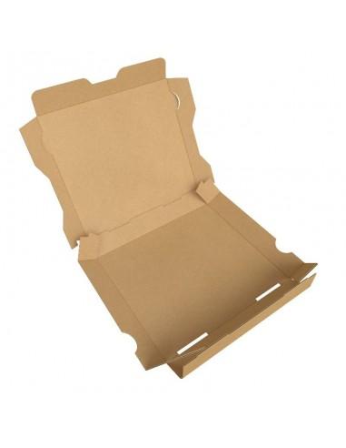 """Boîte à pizza enfant """"La Pizza des Loulous"""". Diamètre 20 cm, hauteur 4 cm pour menu enfant. Pliage facile."""