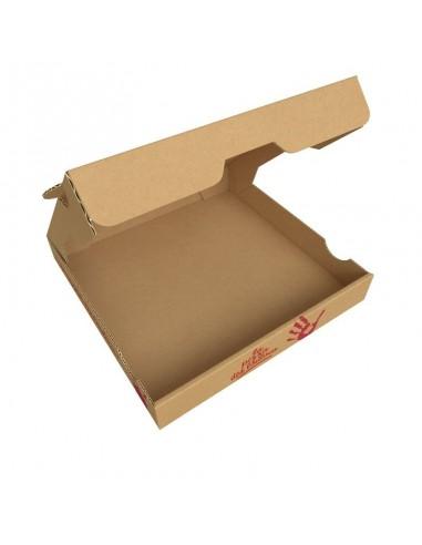 """Boîte à pizza enfant """"La Pizza des Loulous"""". Ouverture au dessus"""