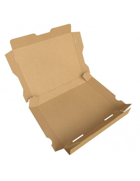 Boîte à bruschetta, tartine italienne, garnies de produits frais, en livraison ou a emporter. Pliage facile.