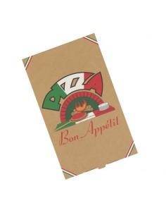 Boîte pour emballer les pizzas chausson, calzone, vente à emporter ou en livraison.