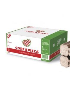 Bûche densifiée de cuisson pour four à pizza au feu de bois.
