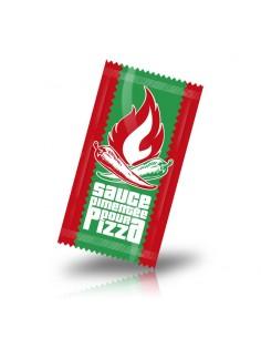 Dosette d'huile pili aussi appelle sauce pimentée pour assaisonner les pizzas. Sachet à ouverture facile.
