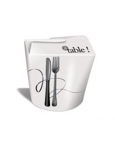 """Pot à pâtes déco """"A table"""""""