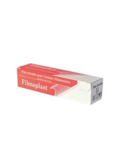 Film alimentaire en rouleau avec sa boîte distributrice, 30 cm de large, 300 m.
