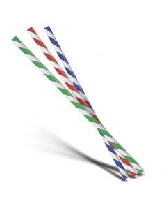 Pailles multicolores en papier.
