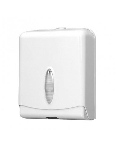 Distributeur à feuille de papier pliage Z pour essuyage des mains, système feuille à feuille.