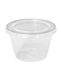 Pot à dessert, couvercle séparé, contenance 250 CC