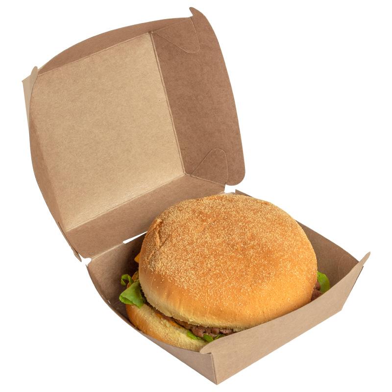 boite burger en kraft brun