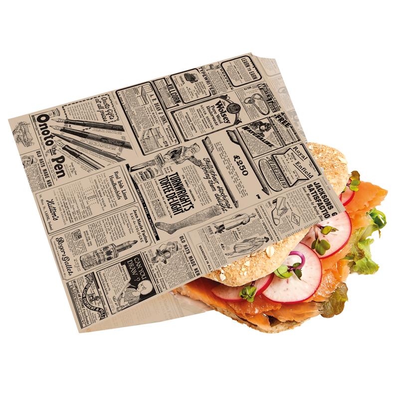 Pochette pour burger à emporter